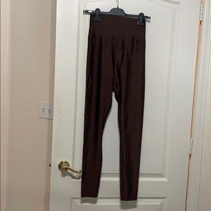 Brown high waisted shiny American Apparel leggings